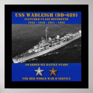 USS Wadleigh DD-689 Pôsteres