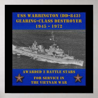 USS Warrington (DD-843) Impressão