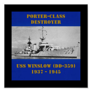 USS Winslow (DD-359) Pôsteres
