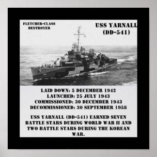 USS Yarnall (DD-541) Impressão