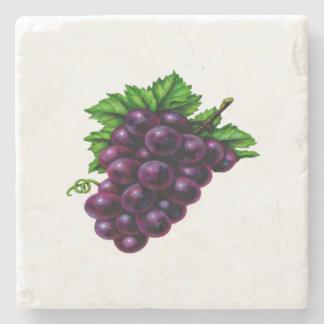 Uvas para vinho roxas porta-copo de pedra