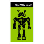 V encabeçamento - foto - robô - verde cartoes de visita