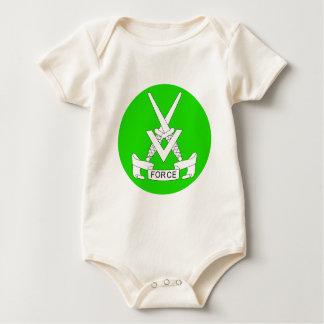 V força macacãozinho para bebê