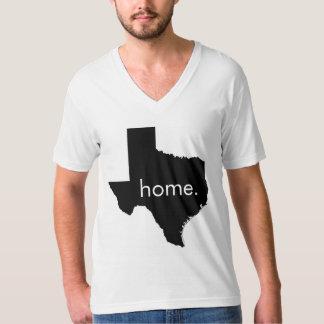 V-Pescoço Home de Texas Tshirts