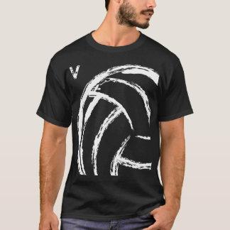 V voleibol (parte dianteira & parte traseira) t-shirts