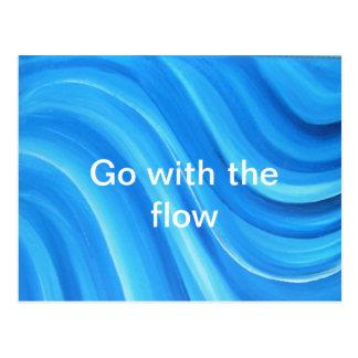 Vá com o cartão do fluxo cartão postal