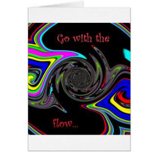 Vá com o fluxo colorized cartão
