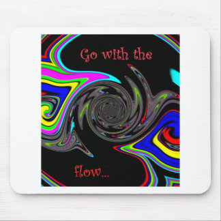 Vá com o fluxo colorized mousepad