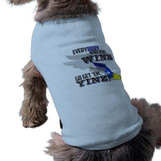 Vá obtêm-nos, tanque azul do animal de estimação camisa sem mangas para cachorro