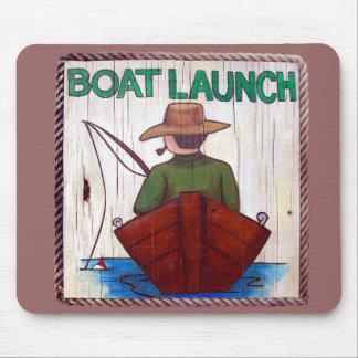 Vá pescar! Tapete do rato da pintura do lançamento Mousepad