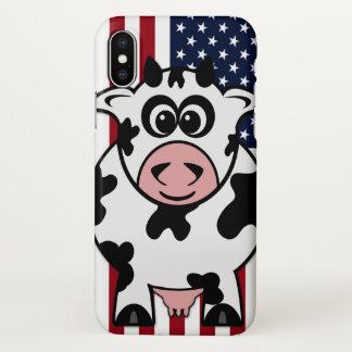 Vaca americana capa para iPhone x