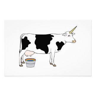 Vaca de leite mágica da leiteria do unicórnio papelaria