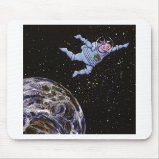 Vaca do espaço sobre a terra mouse pad