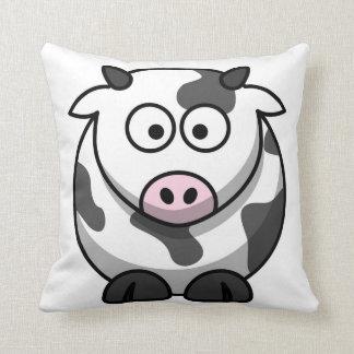 Vaca preto e branco com rotulação do MOO na parte Travesseiro De Decoração