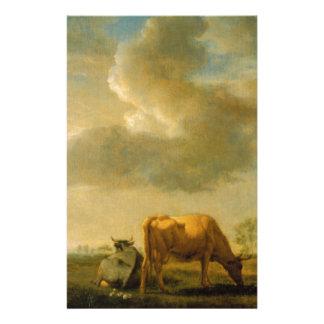 Vacas em um prado por Adriaen camionete de Velde Papelaria