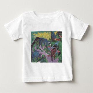 Vacas no por do sol por Ernst Ludwig Kirchner T-shirt