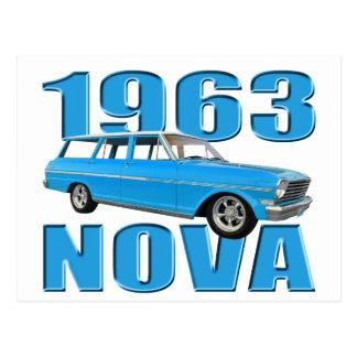 vagão chevy do longroof da nova 1963 II Cartão Postal