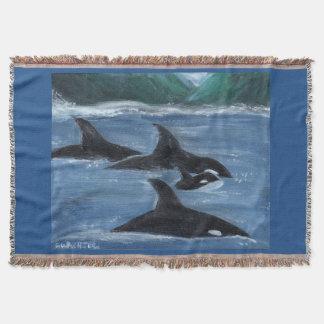 Vagem da orca throw blanket