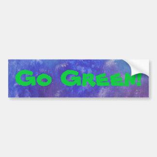 Vai a etiqueta abstrata da pintura do verde adesivo para carro
