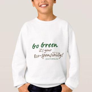 Vai o verde, ele é seu roupa do eco-sponsibility camisetas