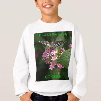 VAI O VERDE! Flor de borboleta Camiseta