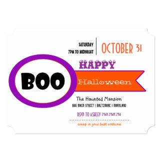 Vaia engraçada o Dia das Bruxas feliz roxo Convite