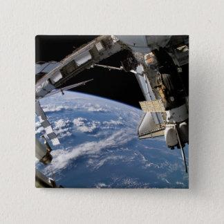 Vaivém espacial Atlantis e uma nave espacial de Bóton Quadrado 5.08cm