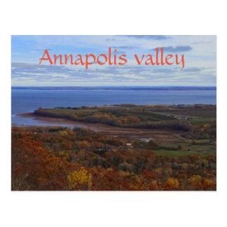 Vale de Annapolis no cartão de Nova Escócia