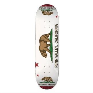 Vale de Penn da bandeira da república de Califórni Skate
