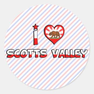 Vale de Scotts, CA Adesivos Em Formato Redondos