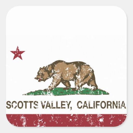 Vale de Scotts da bandeira da república de Adesivo Em Forma Quadrada