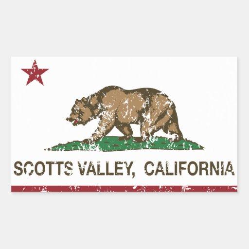 Vale de Scotts da bandeira da república de Adesivos Retangulares