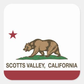 Vale de Scotts da bandeira da república de Adesivo Quadrado