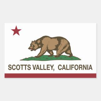 Vale de Scotts da bandeira da república de Adesivo Em Forma Retangular