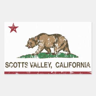 Vale de Scotts da bandeira da república de Califór Adesivos Retangulares
