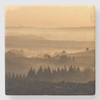 Vale no cenário bonito da névoa porta copos de pedras