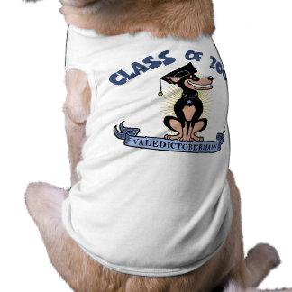 Valedictobermann Camisa Sem Mangas Para Cachorro