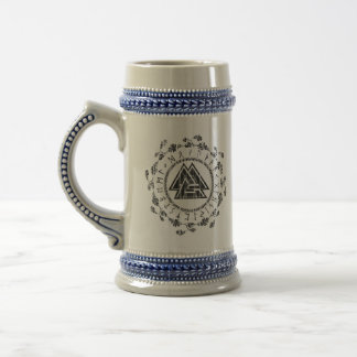 Valknut - Runes - caneca de cerveja nobre de 9