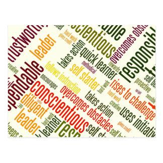 Valores inspiradores do positivo das palavras #4 cartao postal