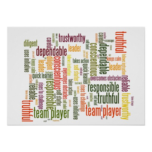 Valores inspiradores do positivo das palavras #4 pôsteres