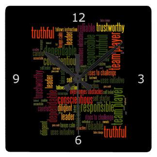Valores inspiradores do positivo das palavras #4 relógio para parede