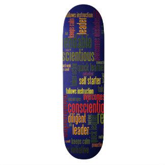 Valores inspiradores do positivo das palavras #4 shape de skate 18,1cm