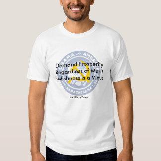 Valores liberais reais t-shirts