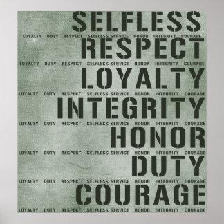 Valores militares poster