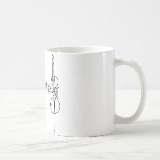 Valsa do violoncelo caneca de café