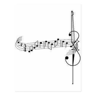 Valsa do violoncelo cartão postal