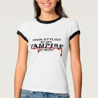 Vampiro do cabeleireiro em a noite camisetas