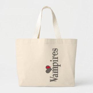 Vampiros do amor (coração) bolsa de lona