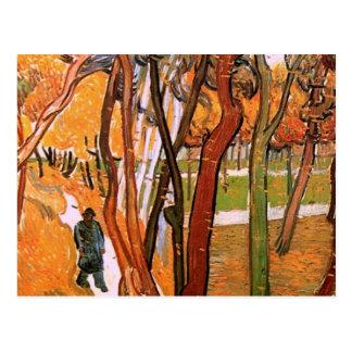 Van Gogh a caminhada: Folhas de queda, arte do Cartão Postal