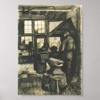 Van Gogh - loja do ferreiro Impressão